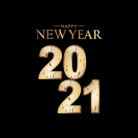 Happy New Years 2021 Celebration Vector Template Design Illustration 矢量图像