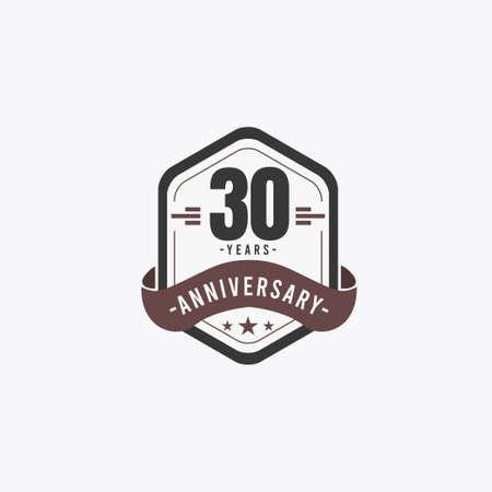 30 Years Anniversary Celebrations Vector Template Design Illustration 向量圖像