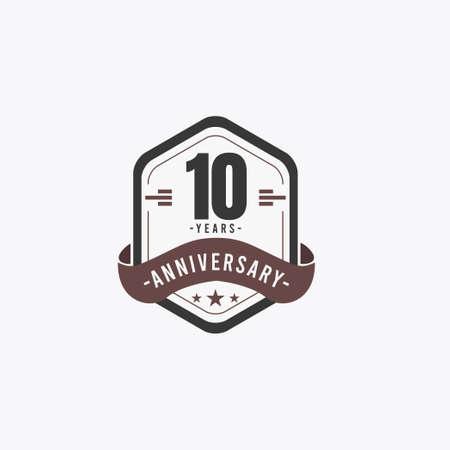 10 Years Anniversary Celebrations Vector Template Design Illustration Standard-Bild - 157863459