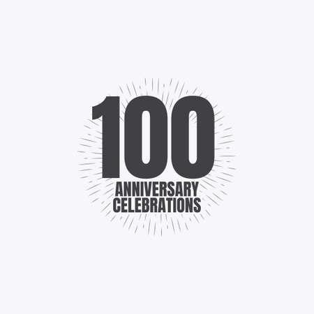 100 Years Anniversary Celebrations Vector Template Design Illustration Standard-Bild - 157863460