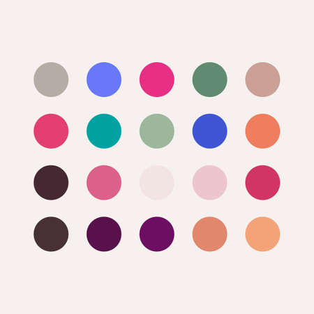 Gradient Pallet Full Color Vector Template Design Illustration