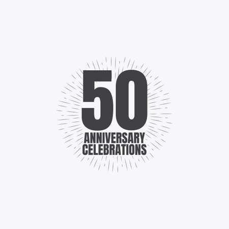 50 Years Anniversary Celebrations Vector Template Design Illustration Standard-Bild - 157863463
