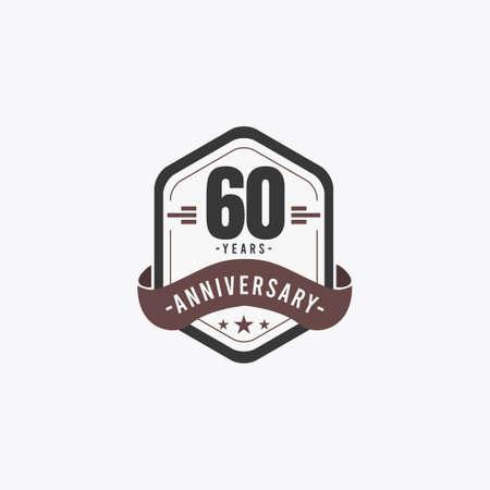 60 Years Anniversary Celebrations Vector Template Design Illustration Illustration