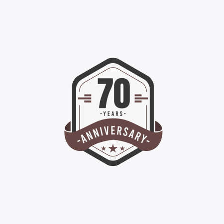70 Years Anniversary Celebrations Vector Template Design Illustration Standard-Bild - 157863468