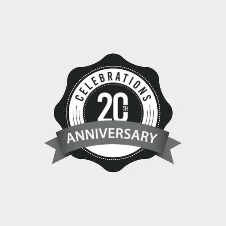 20 Th Anniversary Celebrations Vector Template Design Illustration Illustration