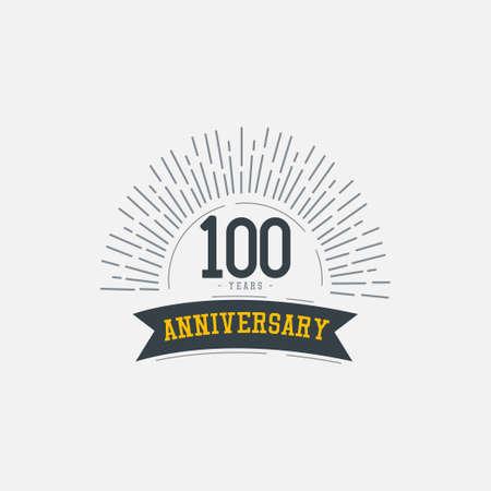 100 Years Anniversary Celebrations Vector Template Design Illustration Illustration