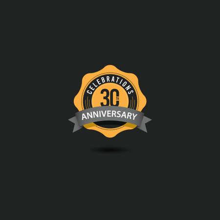 30 Th Anniversary Celebrations Vector Template Design Illustration