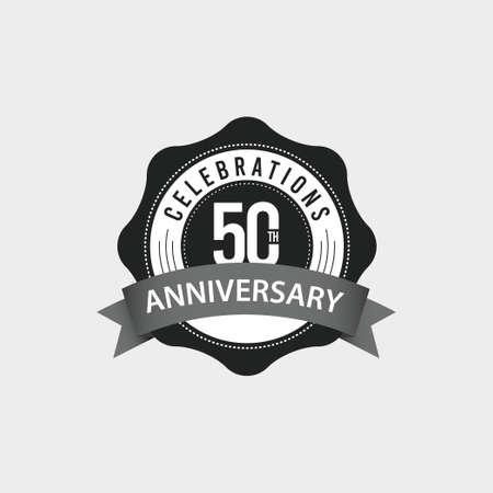 50 Th Anniversary Celebrations Vector Template Design Illustration Illustration