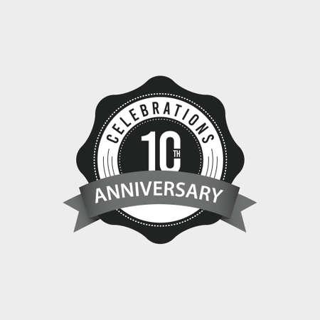 10 Th Anniversary Celebrations Vector Template Design Illustration Standard-Bild - 157863476