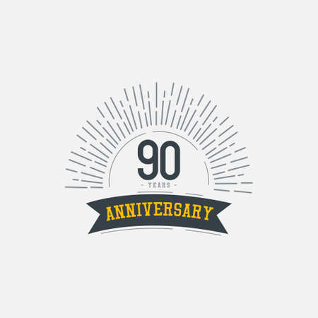90 Years Anniversary Celebrations Vector Template Design Illustration Illustration