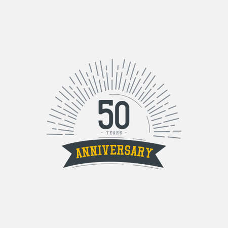 50 Years Anniversary Celebrations Vector Template Design Illustration Illustration