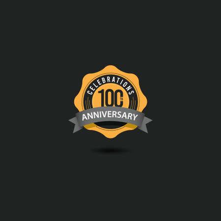 100 Th Anniversary Celebrations Vector Template Design Illustration Illustration