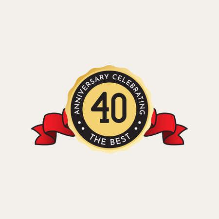 40 Years Anniversary Celebration Vector Template Design Illustration