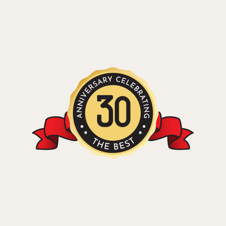 30 Years Anniversary Celebration Vector Template Design Illustration Standard-Bild - 157863568