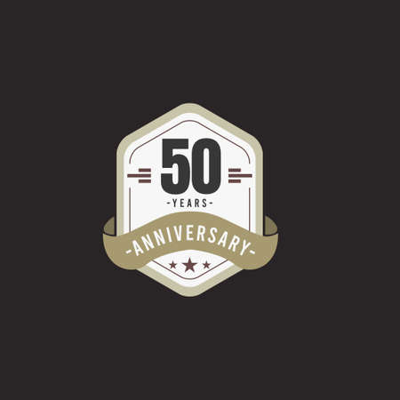 50 Years Anniversary Celebration Vector Template Design Illustration Standard-Bild - 157863574