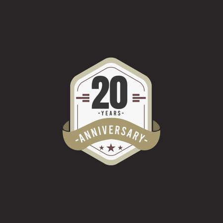 20 Years Anniversary Celebration Vector Template Design Illustration
