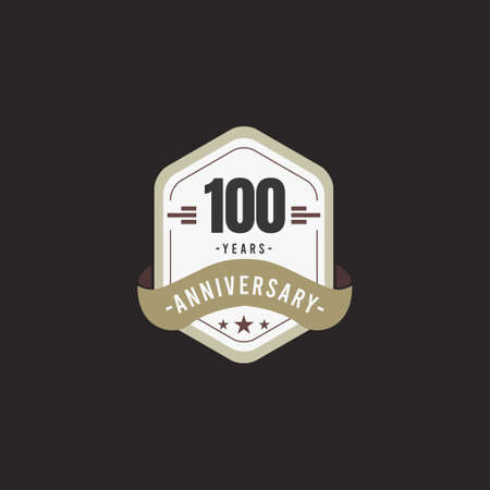 100 Years Anniversary Celebration Vector Template Design Illustration Standard-Bild - 157863579