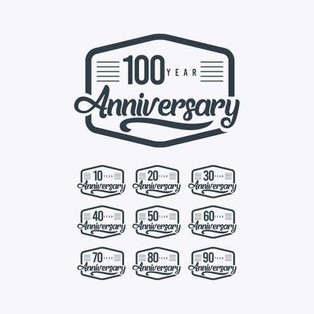 100 Years Anniversary Celebration Retro Vector Template Design Illustration Illustration