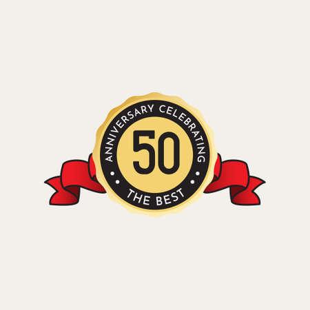 50 Years Anniversary Celebration Vector Template Design Illustration Standard-Bild - 157863583