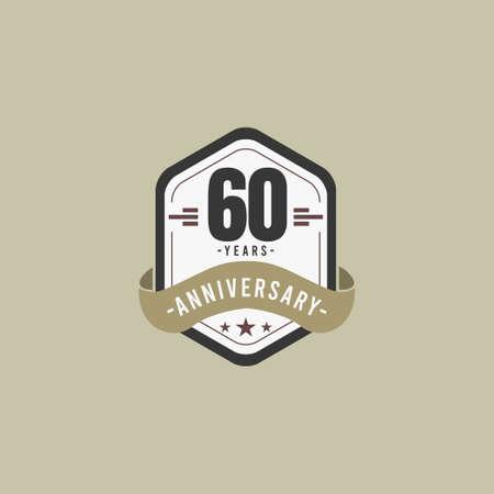 60 Years Anniversary Celebration Vector Template Design Illustration Standard-Bild - 157863585