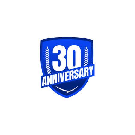 30 Years Anniversary Celebration Vector Template Design Illustration Standard-Bild - 157863590