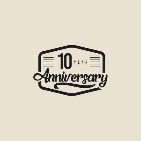 10 Years Anniversary Celebration Vector Template Design Illustration Standard-Bild - 157863591