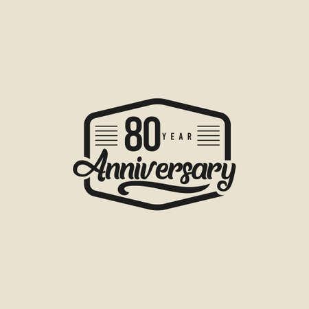 80 Years Anniversary Celebration Vector Template Design Illustration Standard-Bild - 157863783