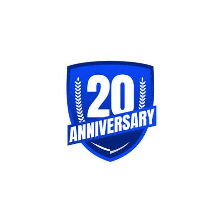 20 Years Anniversary Celebration Vector Template Design Illustration Standard-Bild - 157863812