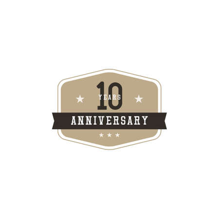 10 Years Anniversary Celebration Vector Template Design Illustration Standard-Bild - 157863821