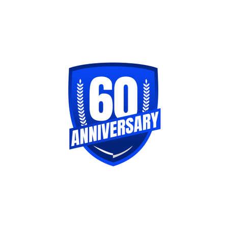 60 Years Anniversary Celebration Vector Template Design Illustration Standard-Bild - 157863828