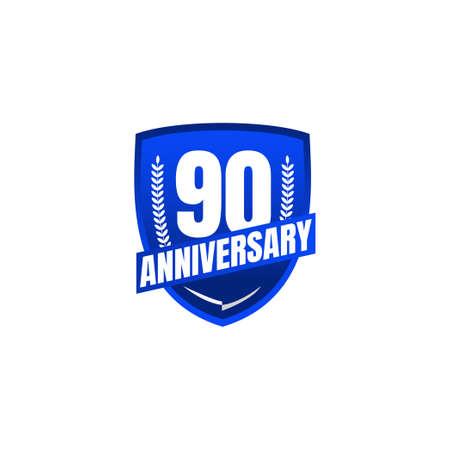 90 Years Anniversary Celebration Vector Template Design Illustration Standard-Bild - 157863829