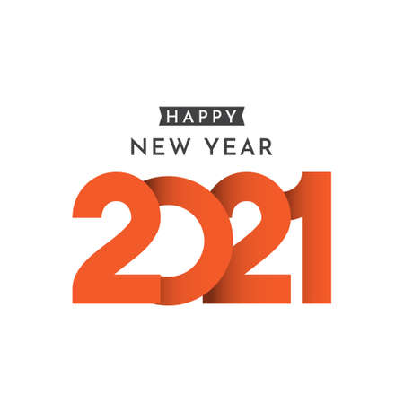 Happy New Years 2021 Celebration Vector Template Design Illustration Standard-Bild - 157863339