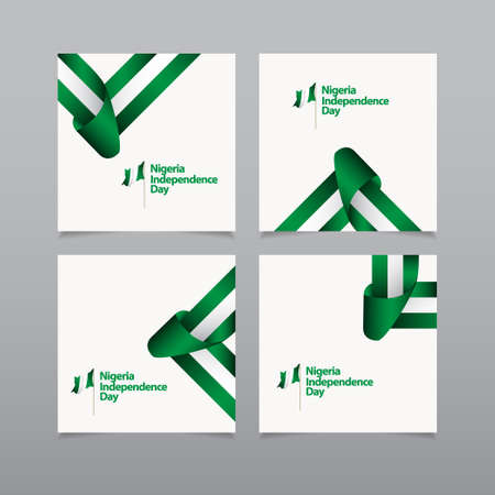 Happy Nigeria Independence Day Celebration Vector Template Design Illustration