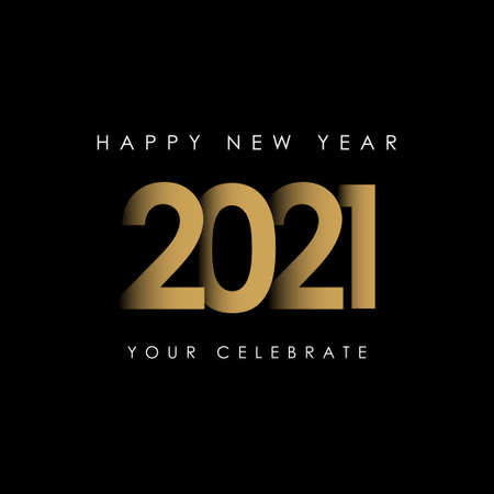 Happy New Years 2021 Celebration Vector Template Design Illustration Standard-Bild