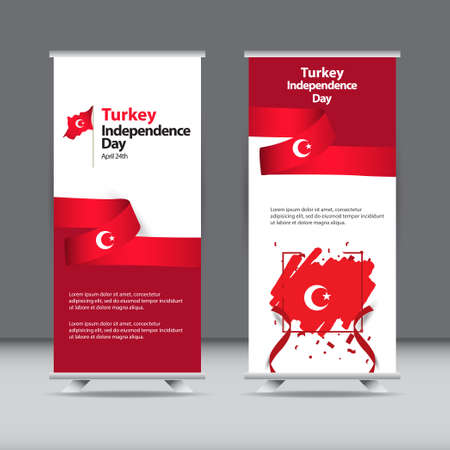 Happy Turkey Independence Day Celebration Vector Template Design Illustration 向量圖像