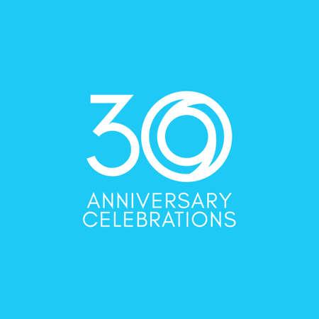 30 Years Anniversary Celebration Vector Template Design Illustration