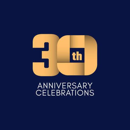 30 th Anniversary Celebration Vector Template Design Illustration