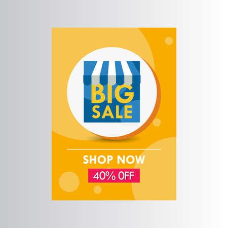 New Years 2021 Big Sale 40% off Shop Now Label Vector Template Design Illustration Vector Illustration