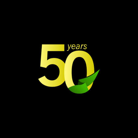 50 Years Anniversary Celebration Vector Template Design Illustration Illustration