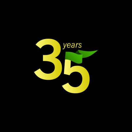 35 Years Anniversary Celebration Vector Template Design Illustration