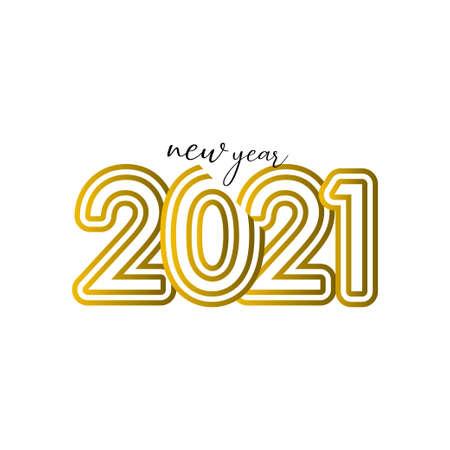 Happy New Years 2021 Celebration Vector Template Design Illustration Illustration