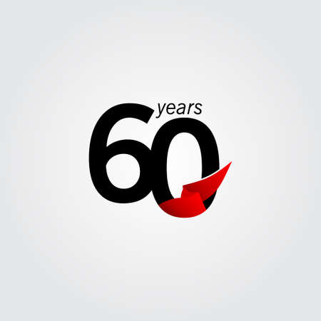 60 Years Anniversary Celebration Vector Template Design Illustration