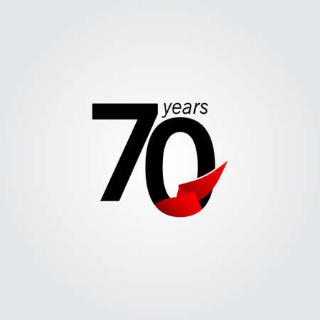 70 Years Anniversary Celebration Vector Template Design Illustration Illustration