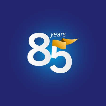 85 Years Anniversary Celebration Vector Template Design Illustration Illustration