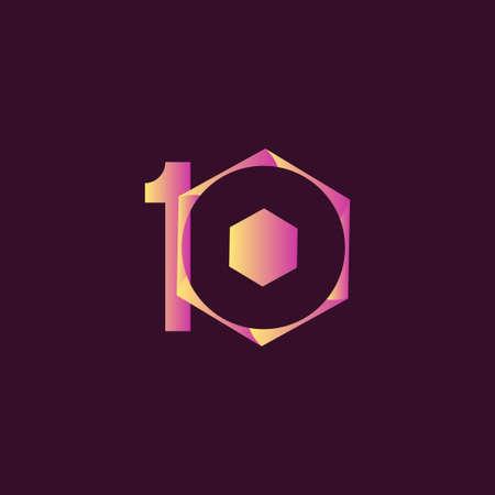 10 Years Anniversary Celebration Vector Template Design Illustration Illustration