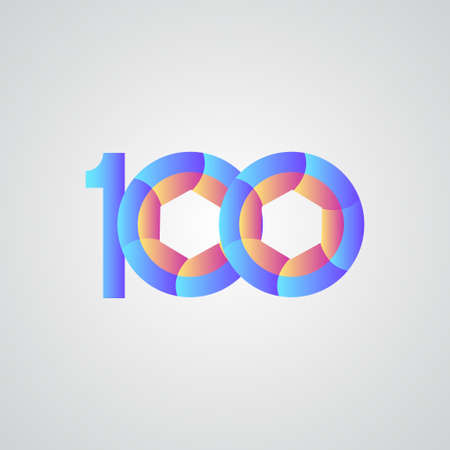 100 Years Anniversary Celebration Vector Template Design Illustration