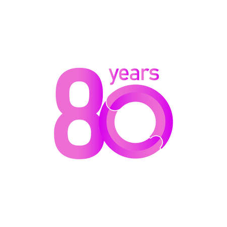 80 Years Anniversary Celebration Vector Template Design Illustration