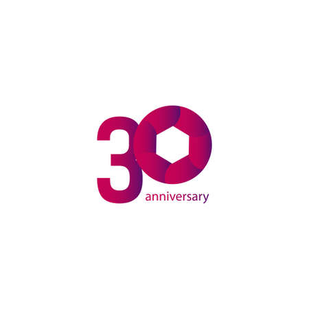 30 Years Anniversary Celebration Vector Template Design Illustration