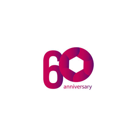 60 Years Anniversary Celebration Vector Template Design Illustration Stockfoto - 157945075