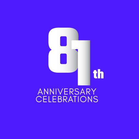 81 th Anniversary Celebration Vector Template Design Illustration Illustration